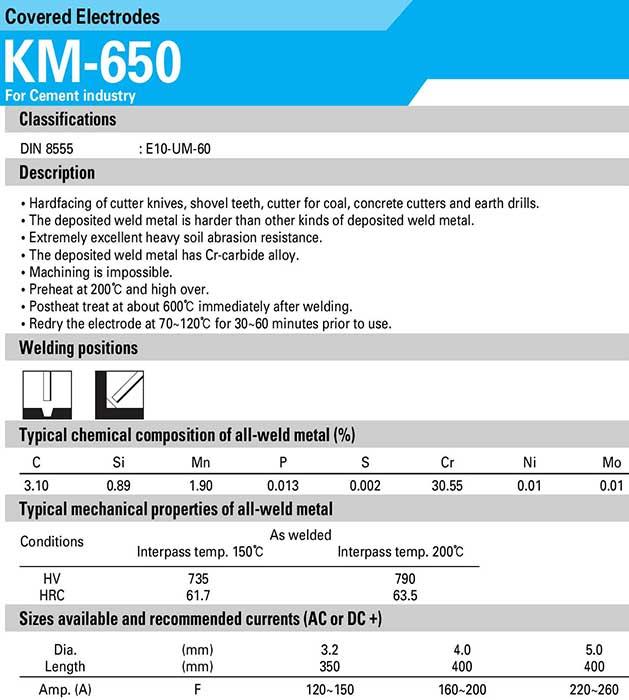 Que hàn chống mòn KM650