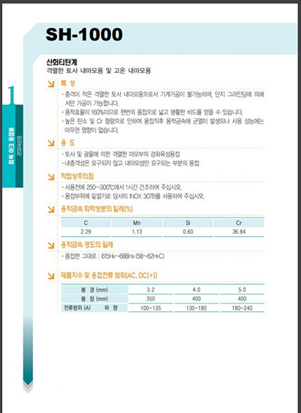 Que hàn SH-1000 Esab Korea