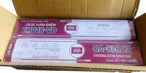 Que hàn chịu lực E7018 Việt Đức sản xuất