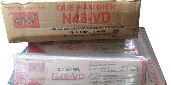 N46-VD hàn kết cấu thép carbon thấp